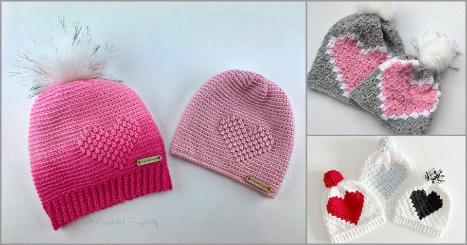 Heart Hat Free Crochet Patterns
