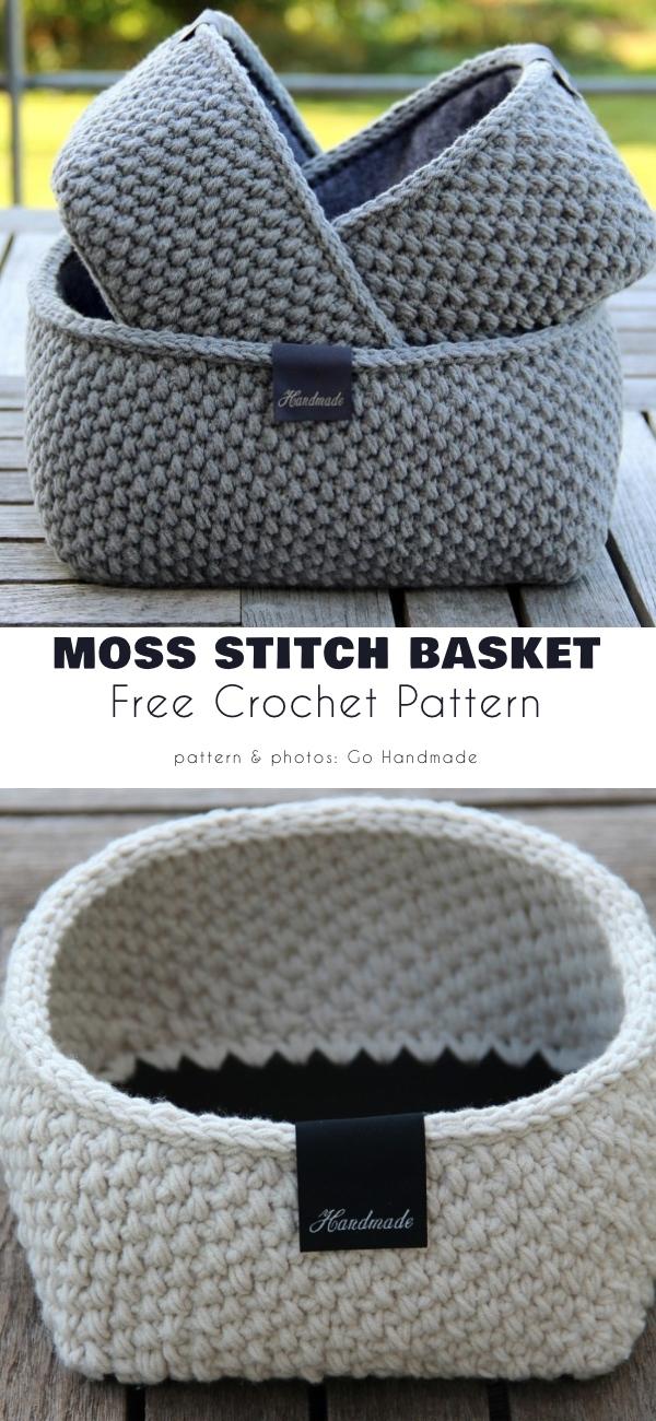 Moss Stitch Basket