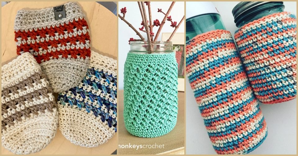 Jar Cozy Free Crochet Patterns
