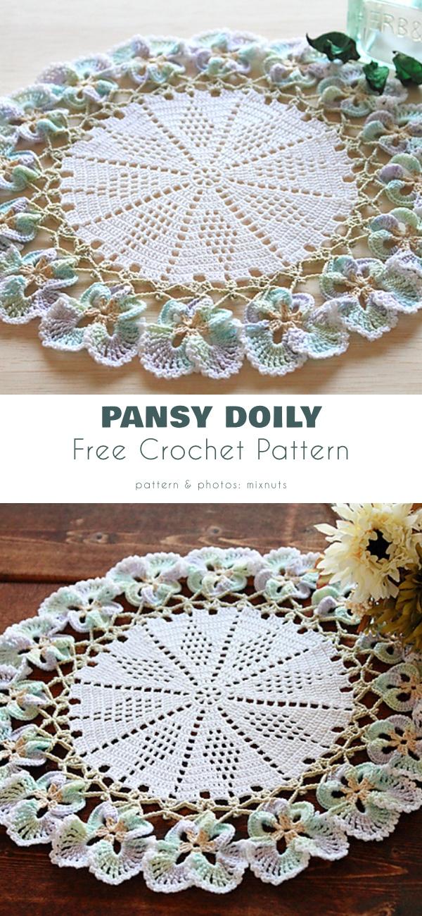 Pansy Doily