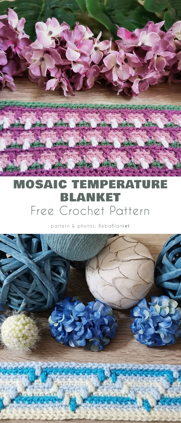 Mosaic Temperature Blanket