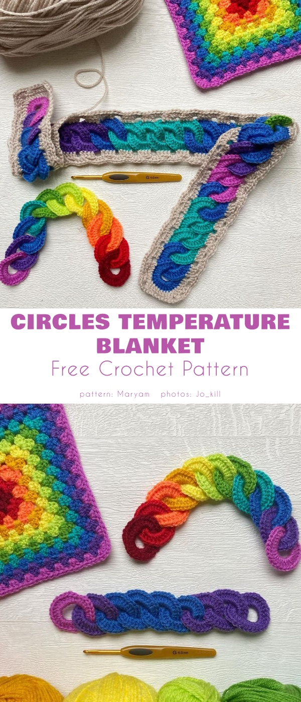 Circles Temperature Blanket