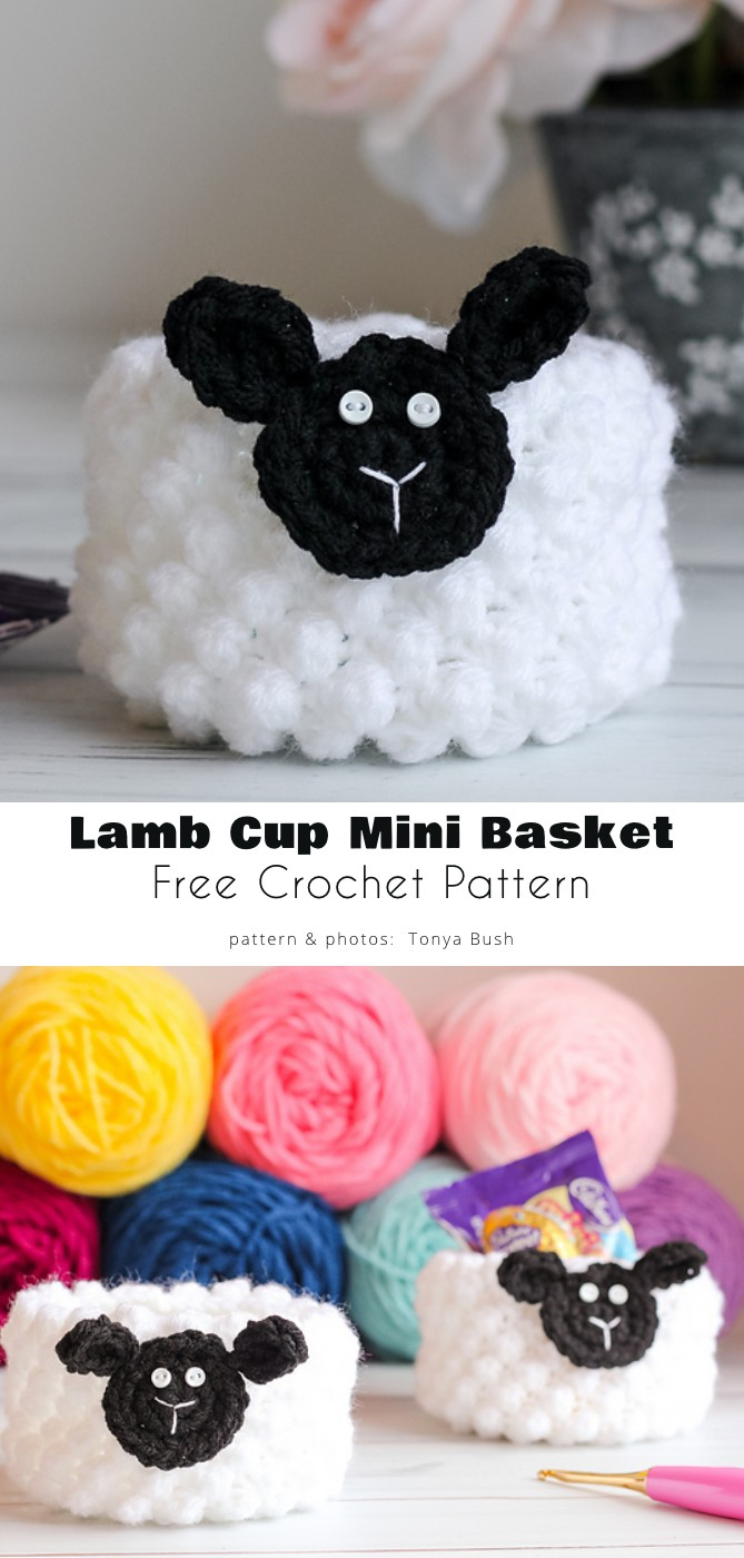 Lamb Cup Mini Basket