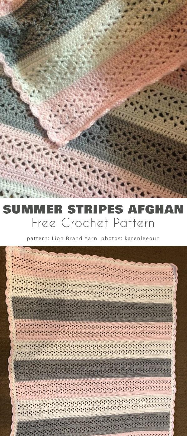 Summer Stripes Afghan
