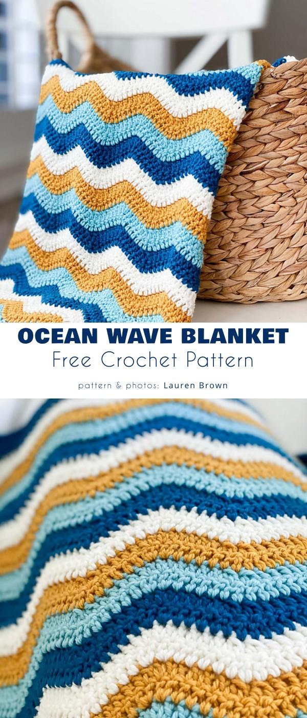 Ocean Wave Blanket