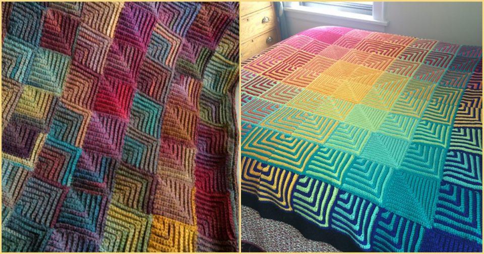 Mitered blanket free patterns