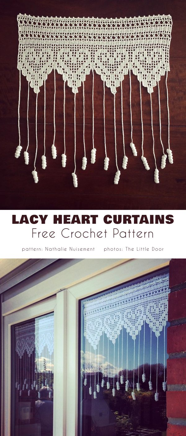 Lacy Heart Curtains