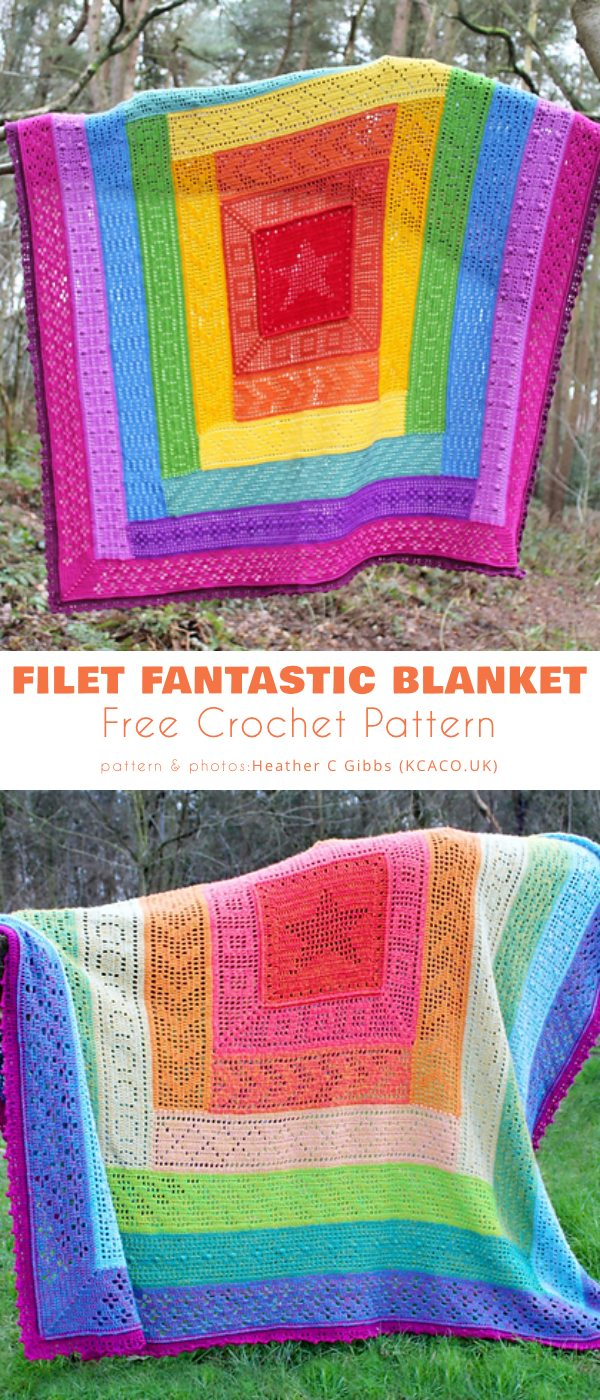 Filet Fantastic Blanket CAL 2021