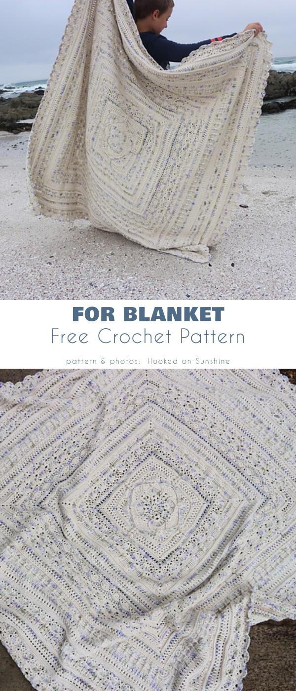 For Blanket Free Crochet Pattern