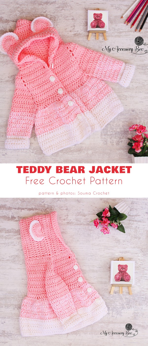 Teddy Bear Jacket Free Crochet Pattern