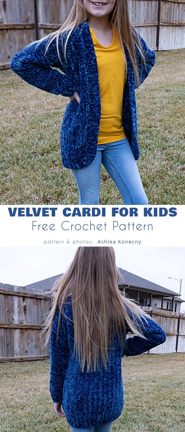 Velvet cardi for kids