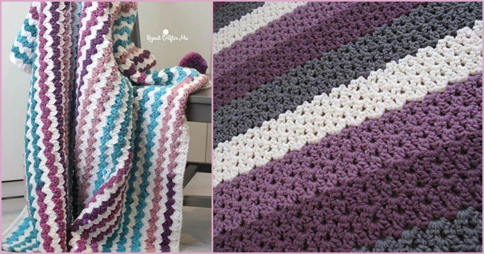 Cluster V-Stitch Blanket