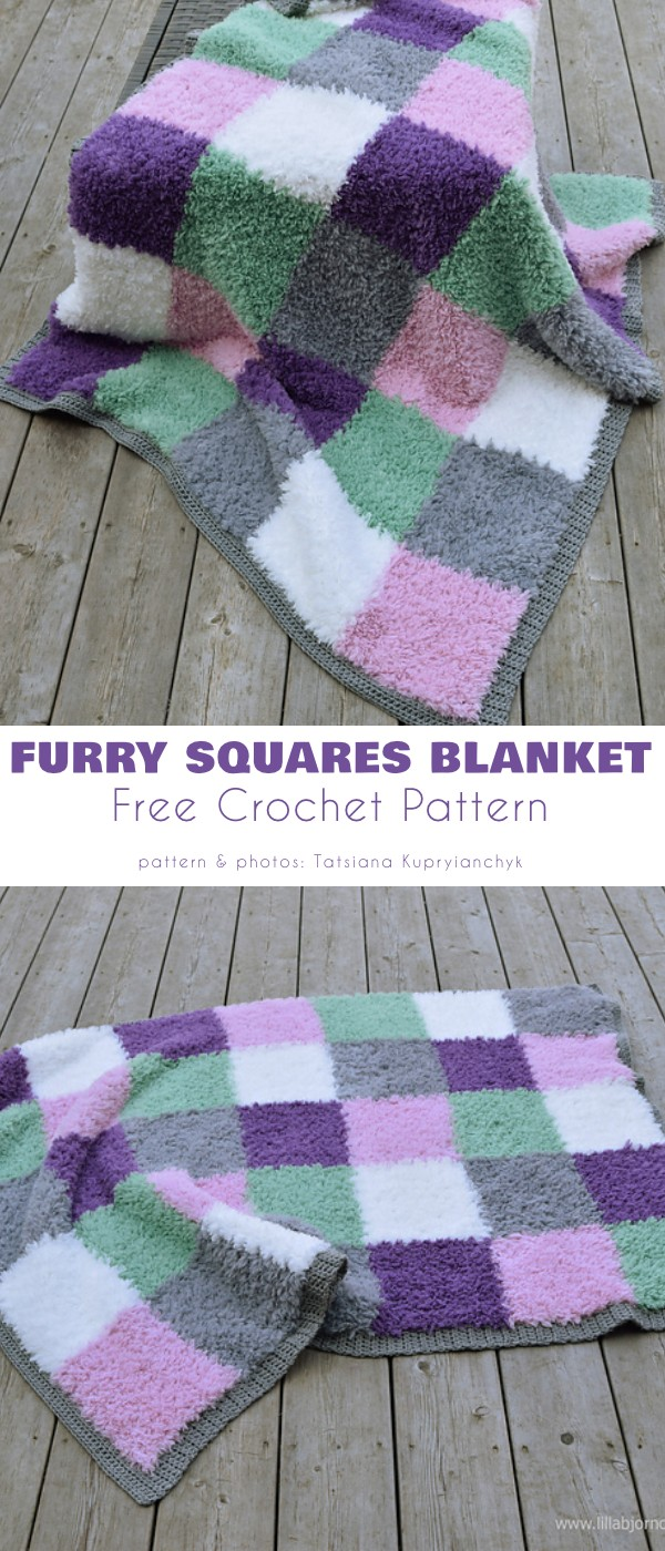 Furry Squares Blanket