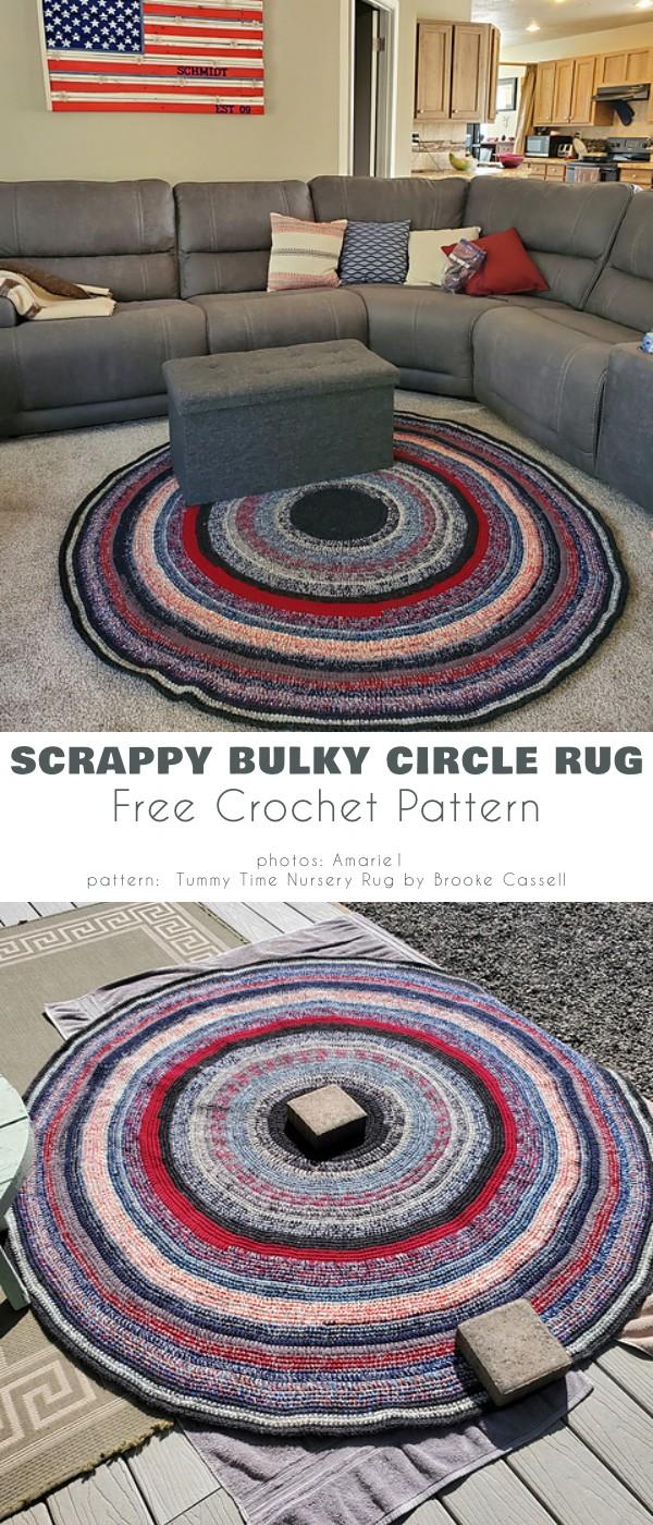 Scrappy bulky circle Rug