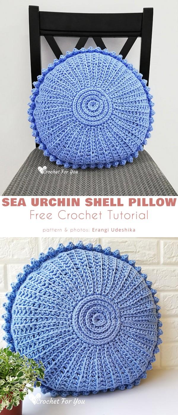 Sea Urchin Shell Pillow