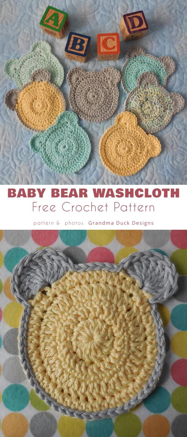 Baby Bear Washcloth