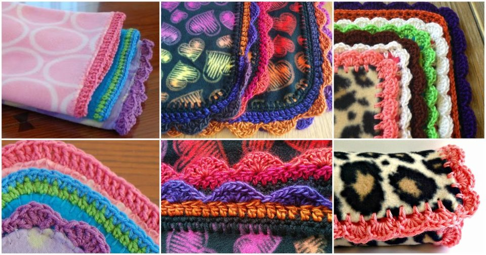 Crocheted Polar Fleece Baby Blanket Edgings
