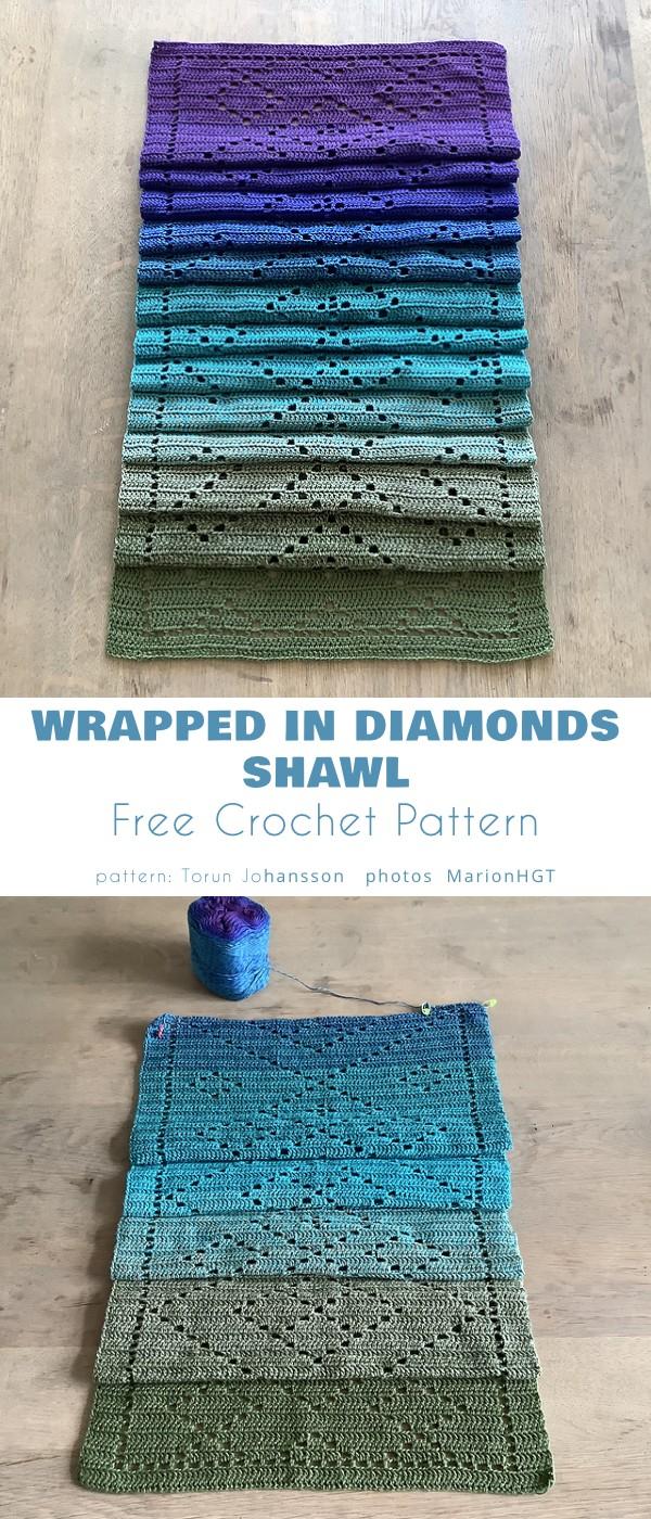 Wrapped in Diamonds Shawl
