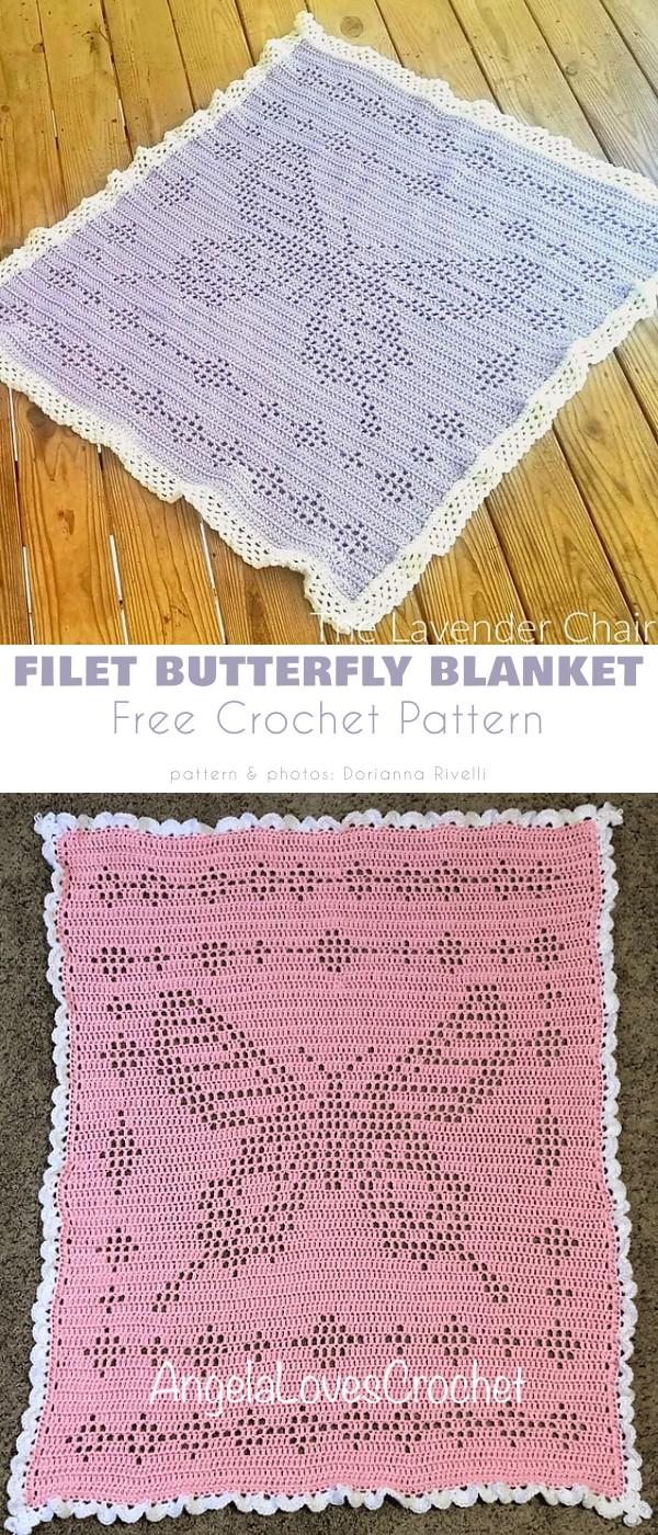 Filet Butterfly Blanket