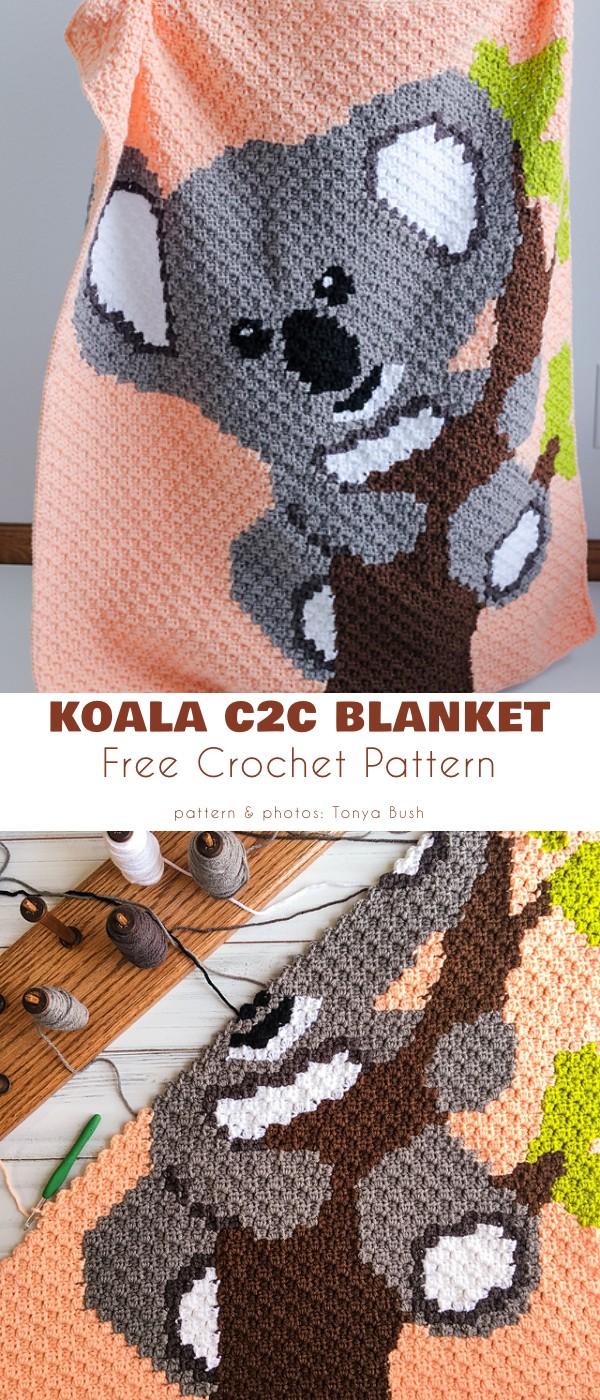 Koala C2C Blanket