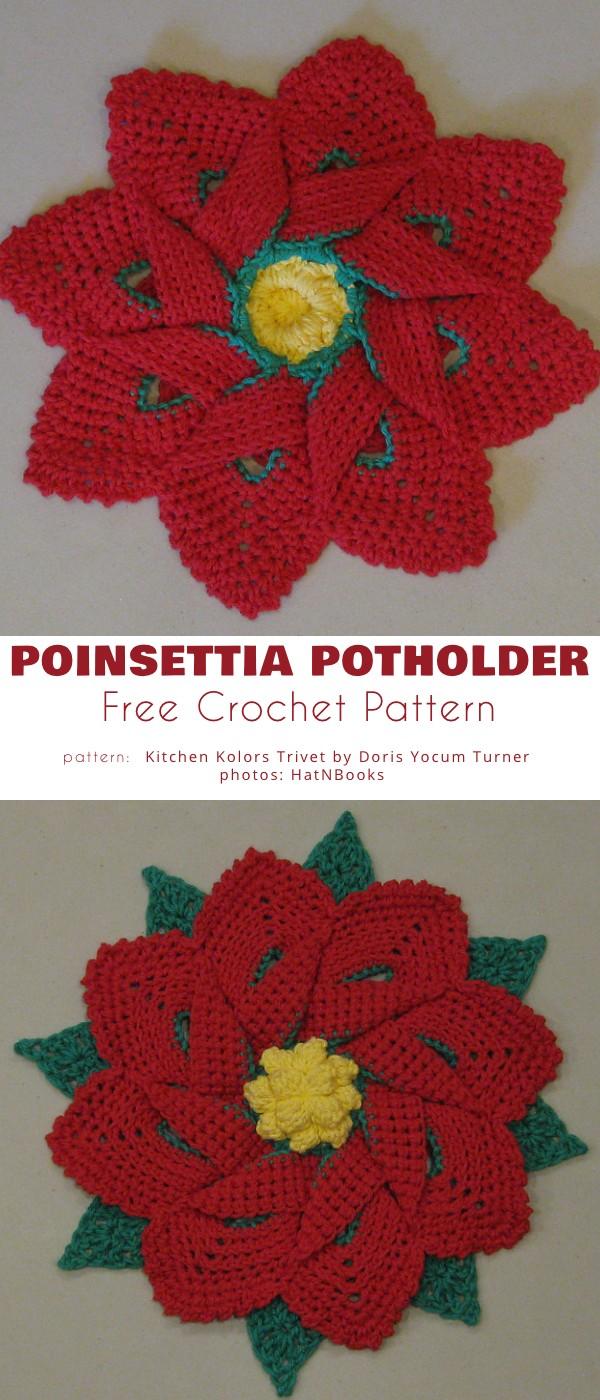 Poinsettia Hot Pad