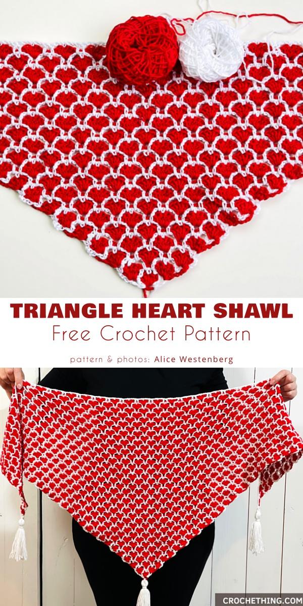 Triangle Heart Shawl