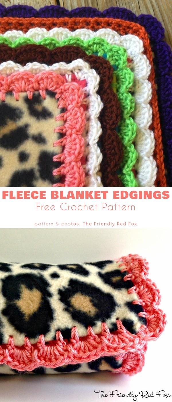 Fleece blanket edgings