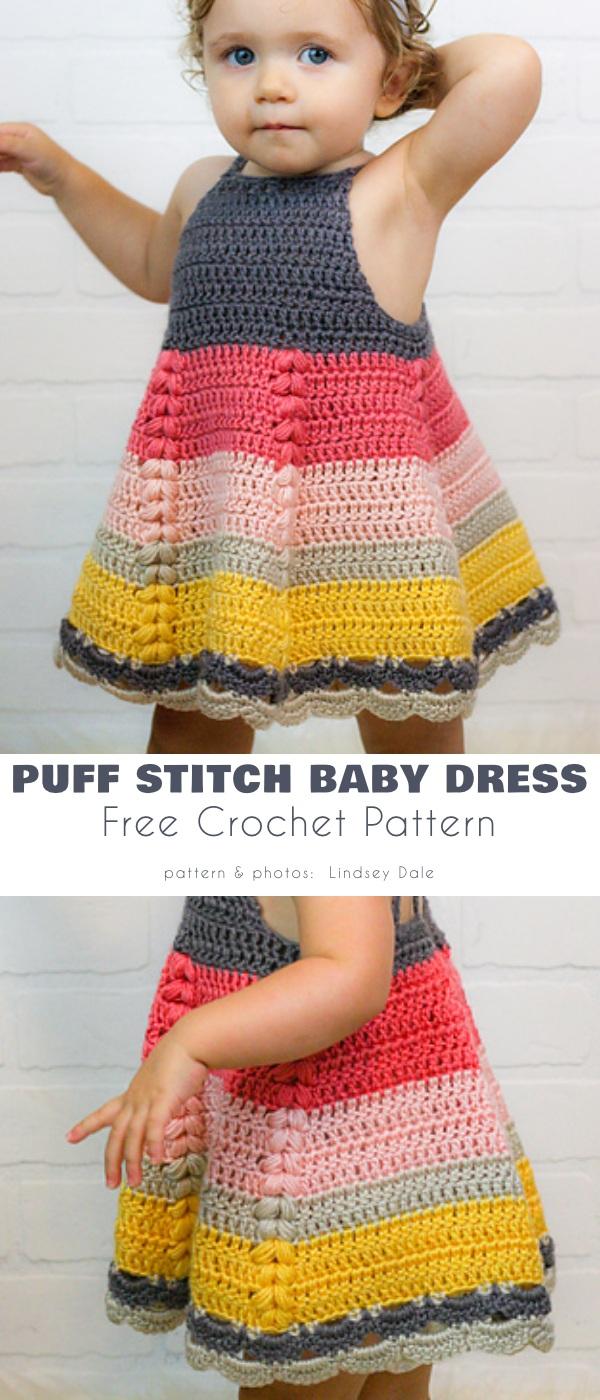 Puff Stitch Toddler Dress