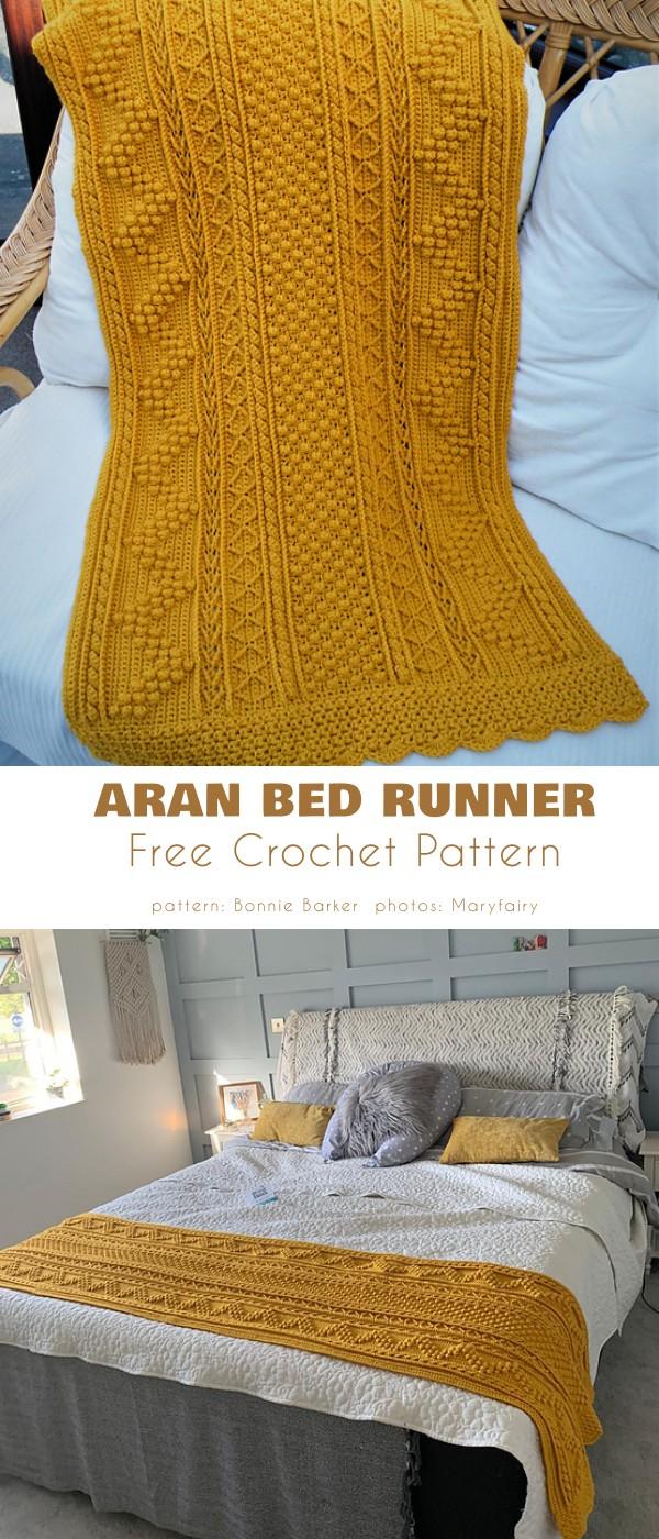Aran Bed Runner