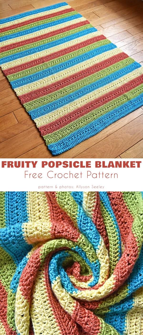 Fruity Popsicle Blanket