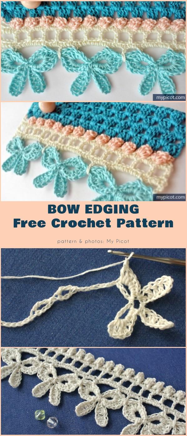 Crochet Bow Edging Border