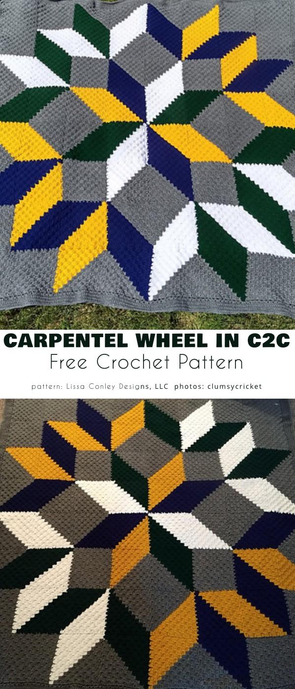 Carpenter's Wheel Afghan