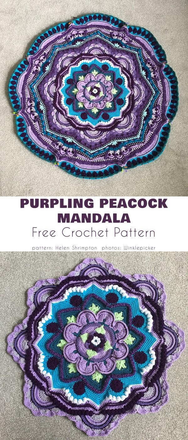 Purpling Peacock Mandala