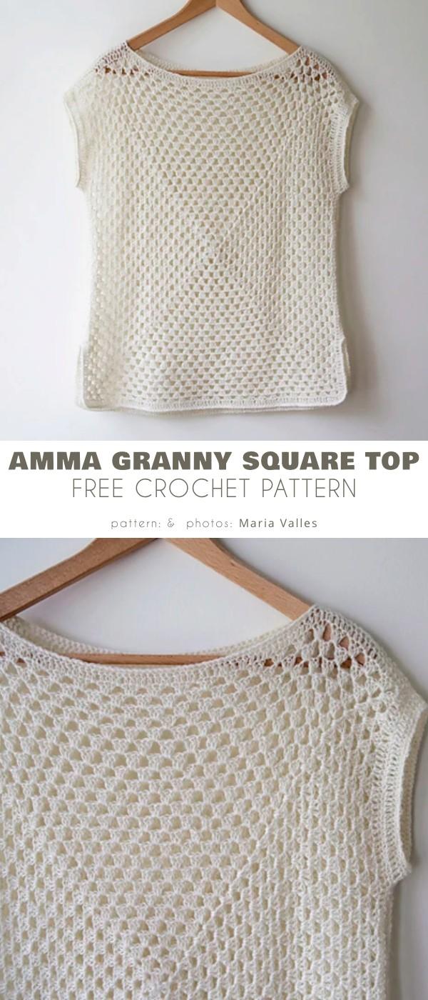amma granny square top
