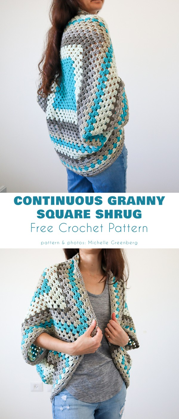 Continuous Granny Square Shrug