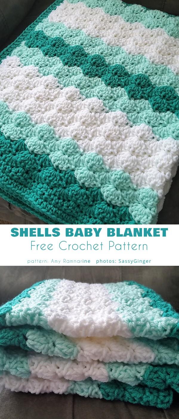 Shells Baby Blanket