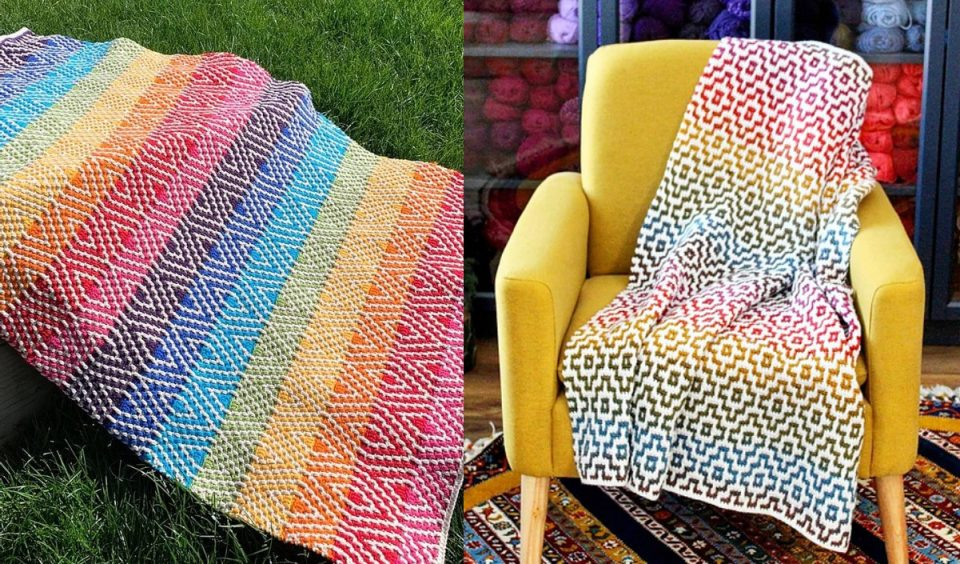 Rainbow Mosaic Blanket