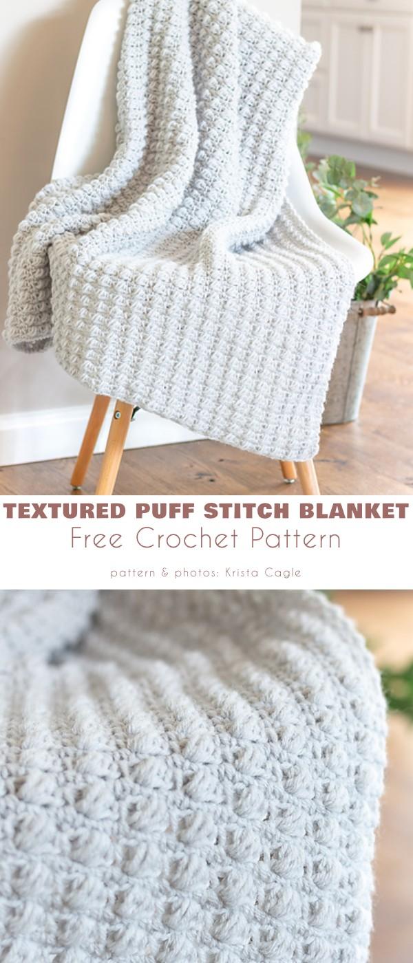 Textured Puff Stitch Blanket