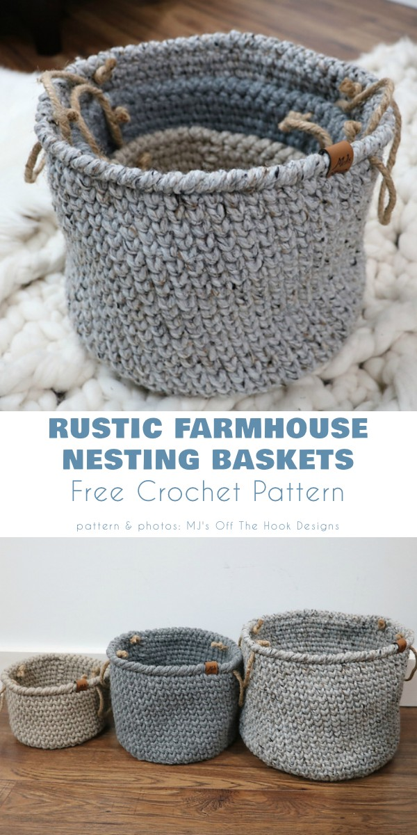 Rustic Farmhouse Nesting Baskets