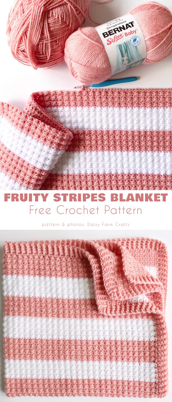 Fruity Stripes Baby Blanket