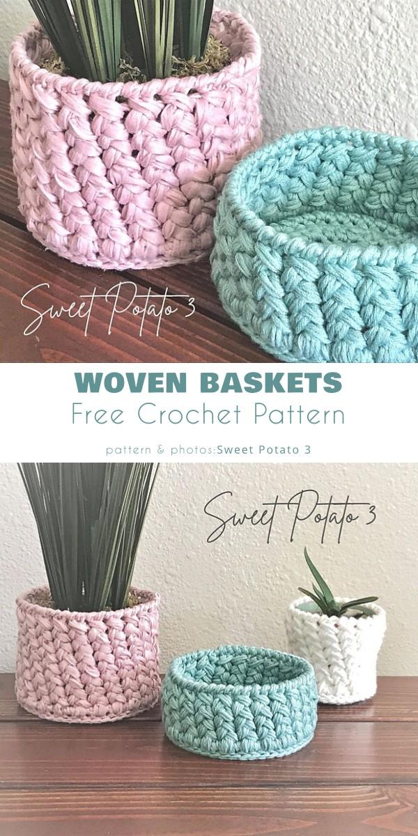 Woven Basket & Pot Cover