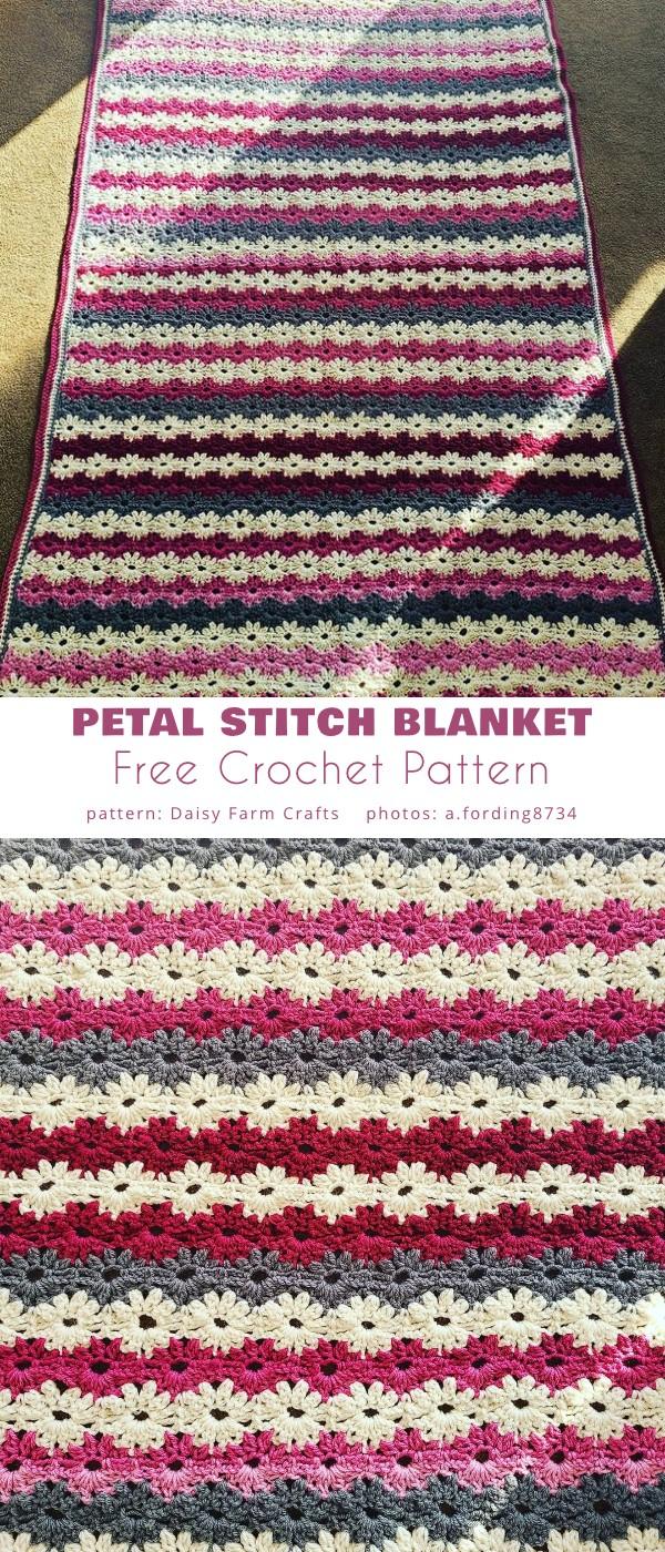 Petal Stitch Blanket