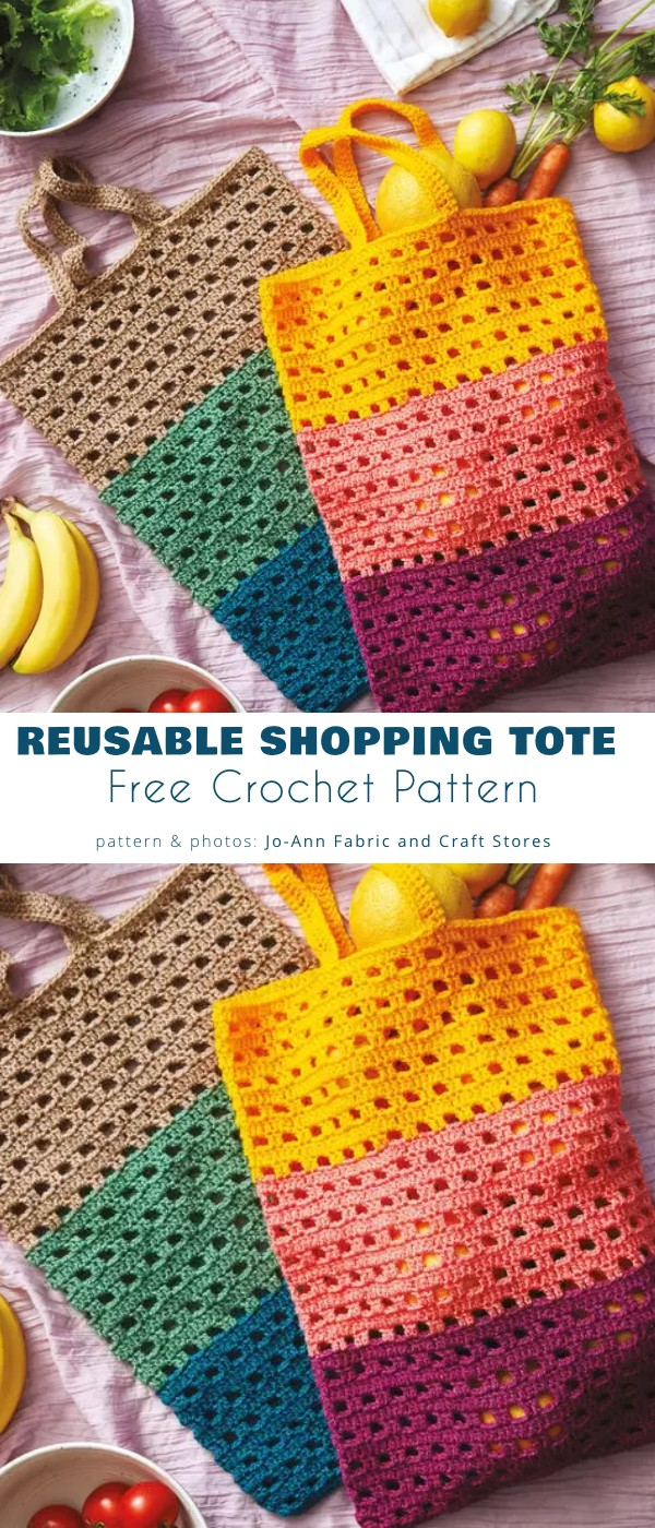 Reusable Crochet Shopping Tote