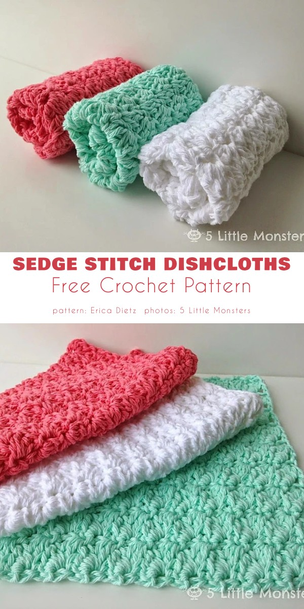 Sedge Stitch Dishcloths