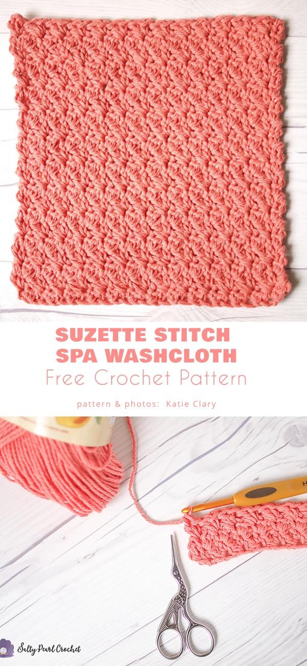 Suzette Stitch Spa Washcloth