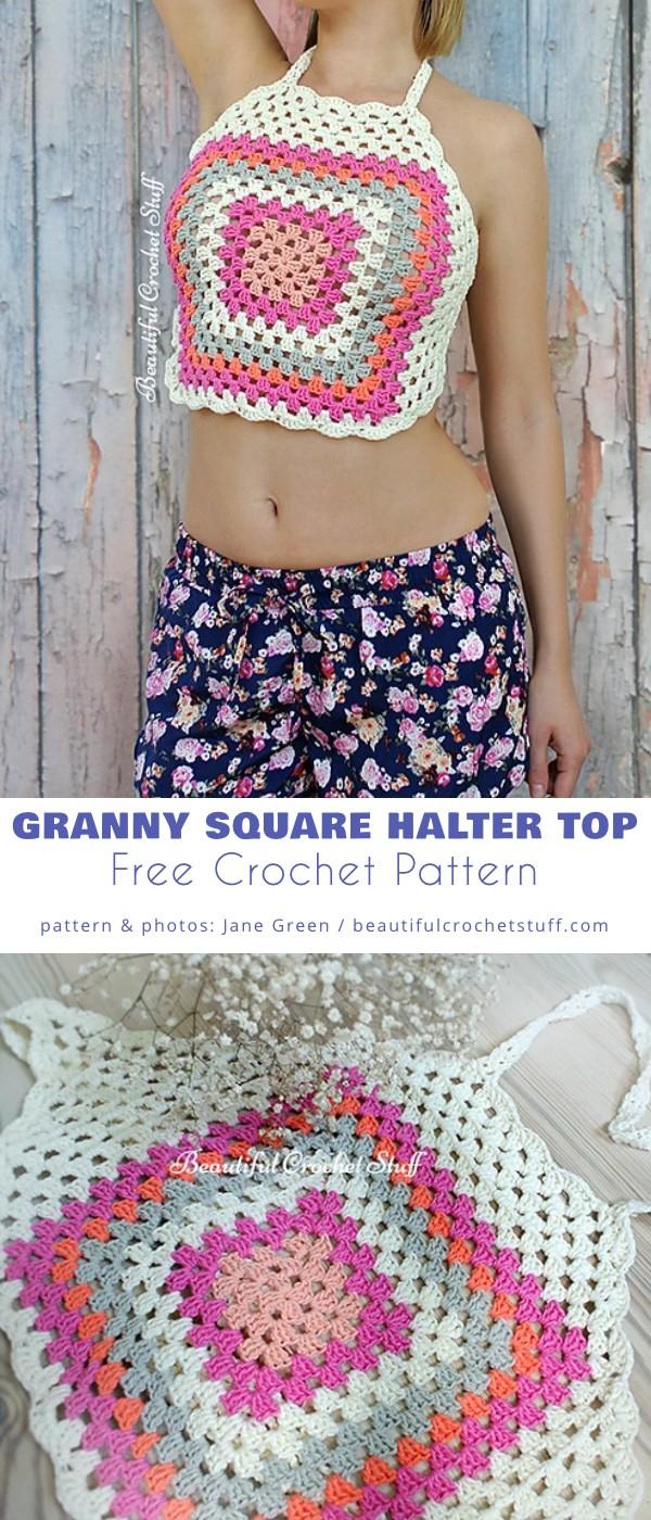 Granny Square Halter Top