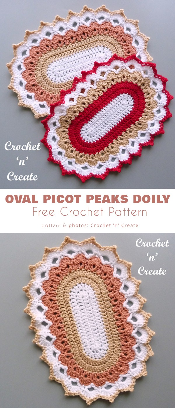 OVal Picot Peaks Doily