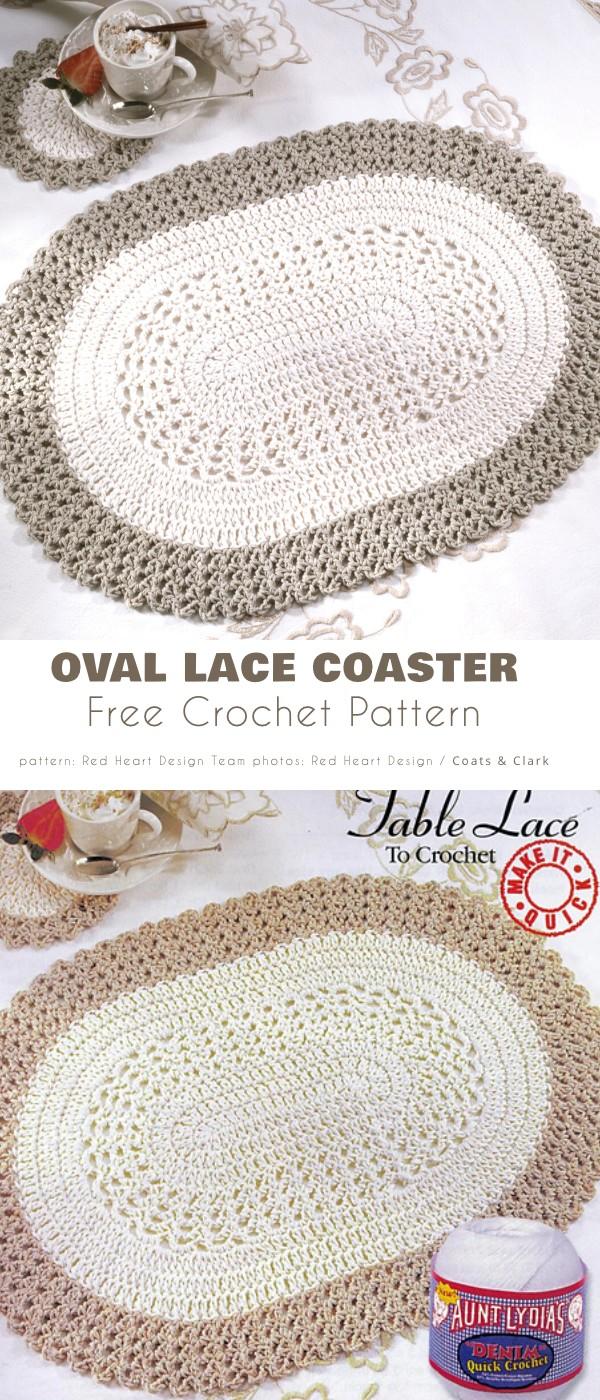 Oval Lace Coaster