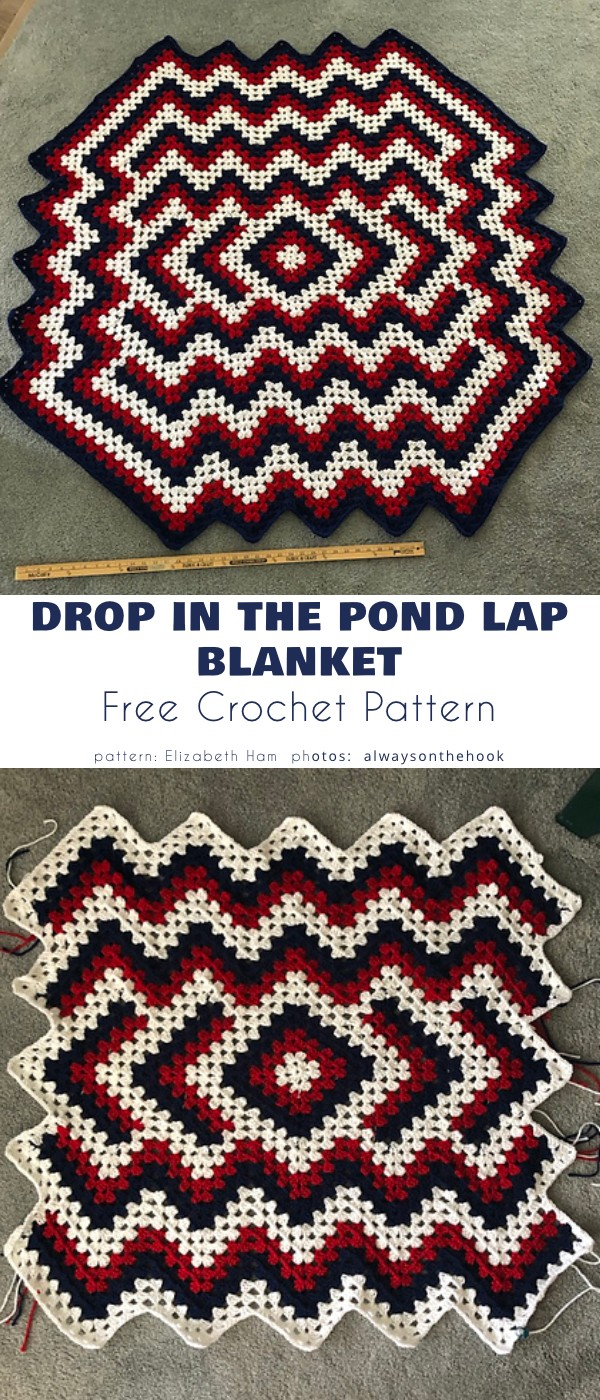 Drop in the Pond Lap Blanket