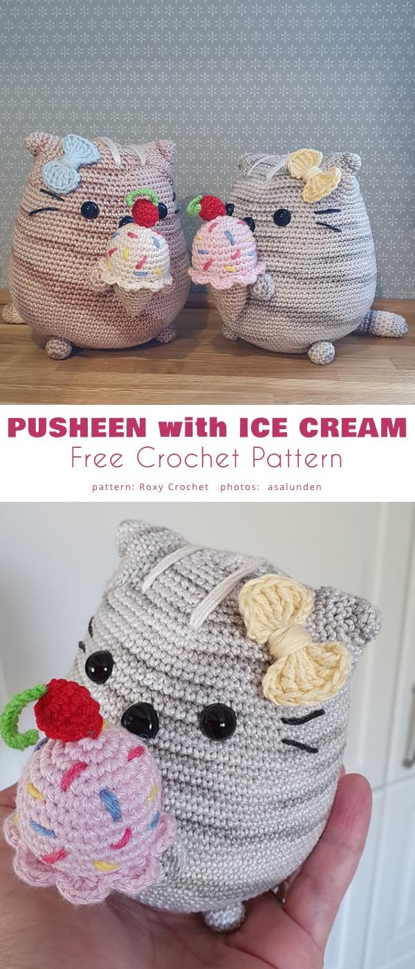 Pusheen with Ice Cream
